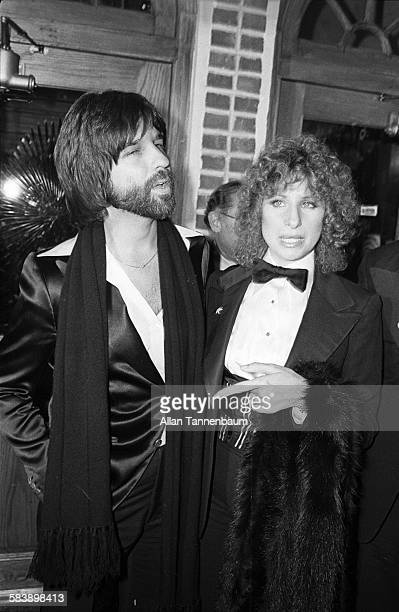 American producer Jon Peters and actress Barbra Streisand arrive for the premiere of their film 'A Star Is Born' at Tavern on the Green New York New...