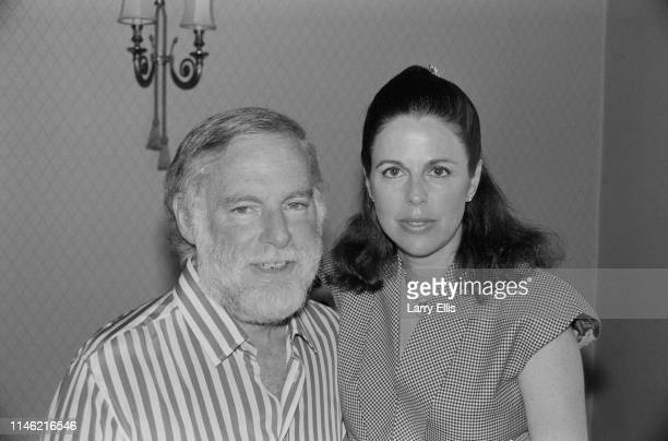 American producer Leonard Goldberg with his wife Wendy Howard UK 12th July 1984