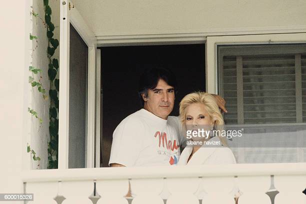 American producer Tony Scotti and his wife Bulgarian-born French singer Sylvie Vartan in their Los Angeles home.
