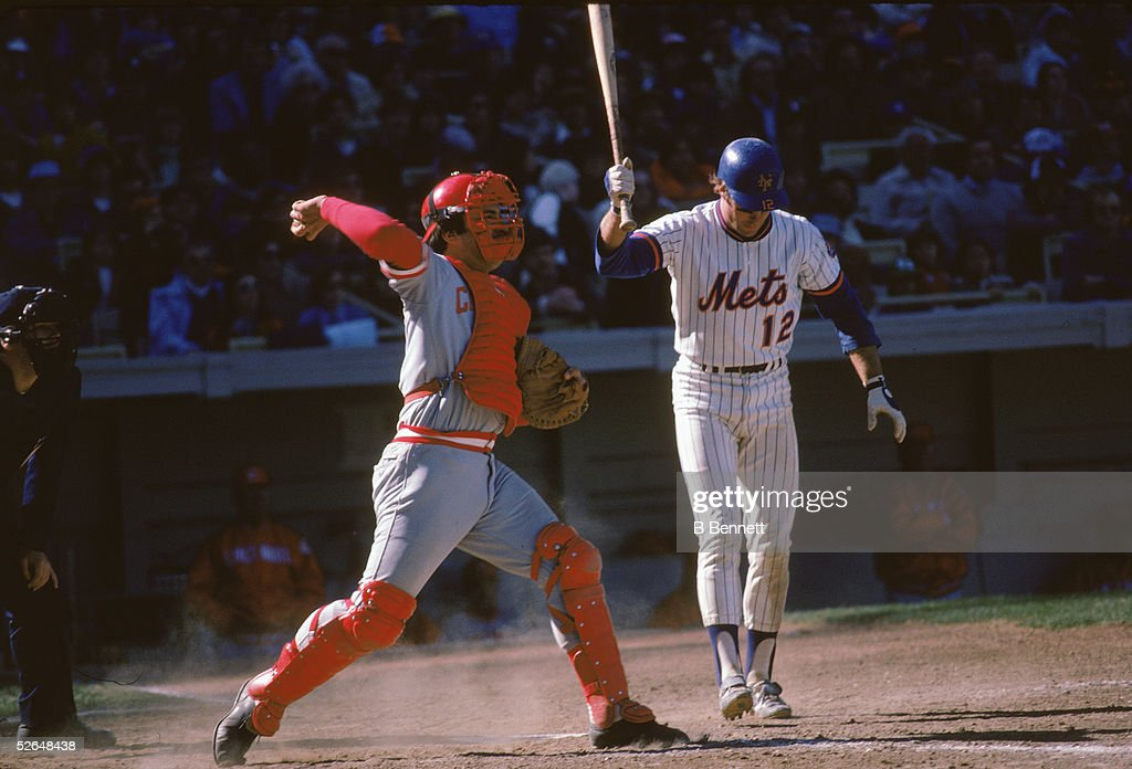Johnny Bench Throws A Miss From John Stearns : News Photo