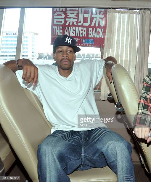 American professional basketball player Allen Iverson arrives at the airport on September 2 2012 in Shanghai China