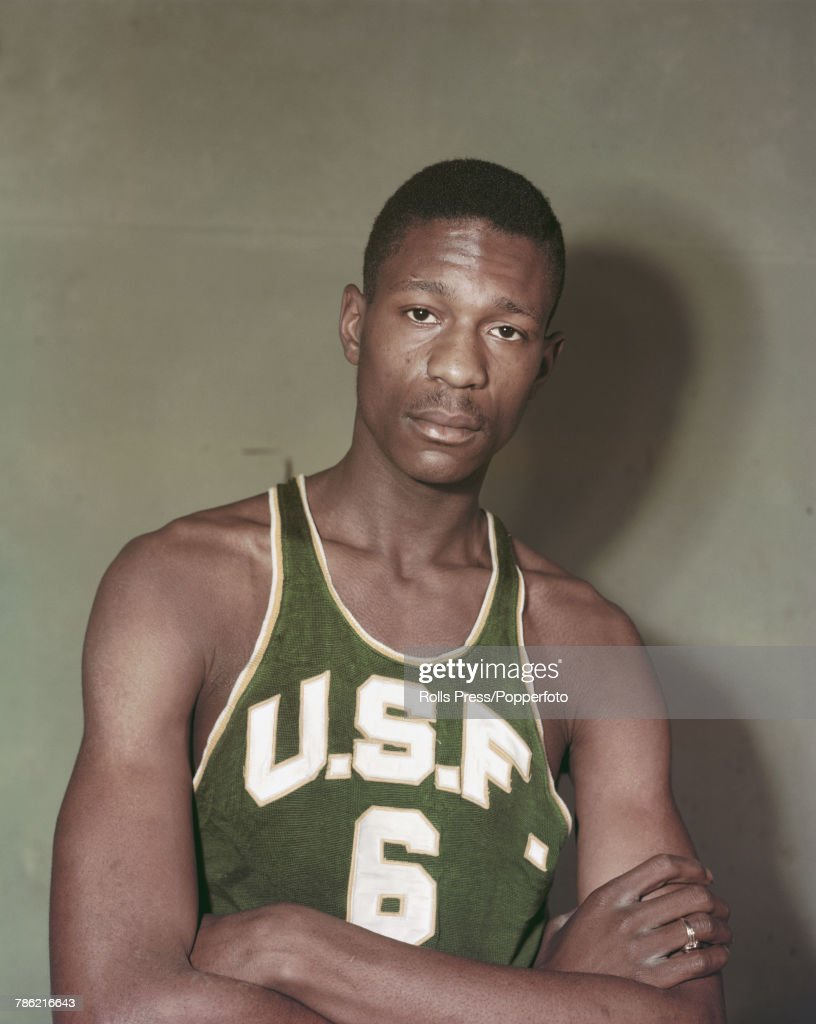 check out cc86a e50b3 American professional basketball player Bill Russell poses ...