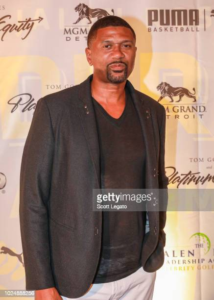 American professional basketball player, current sports analyst for ESPN, and cofounder of the Jalen Rose Leadership Academy attends the Jalen Rose...
