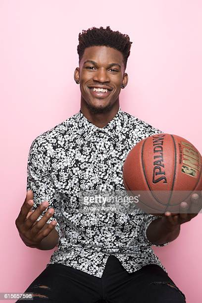 American professional basketball player Jimmy Butler is photographed for Chicago Magazine on August 25 2015 in Los Angeles California