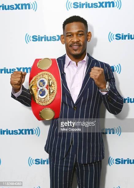 American professional boxer Daniel Jacobs visits SiriusXM Studios on February 27, 2019 in New York City.