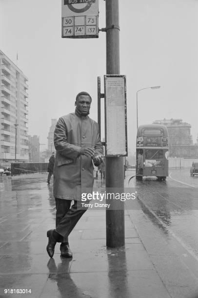 American professional boxer Joe Frazier in London, UK, 3rd April 1968.