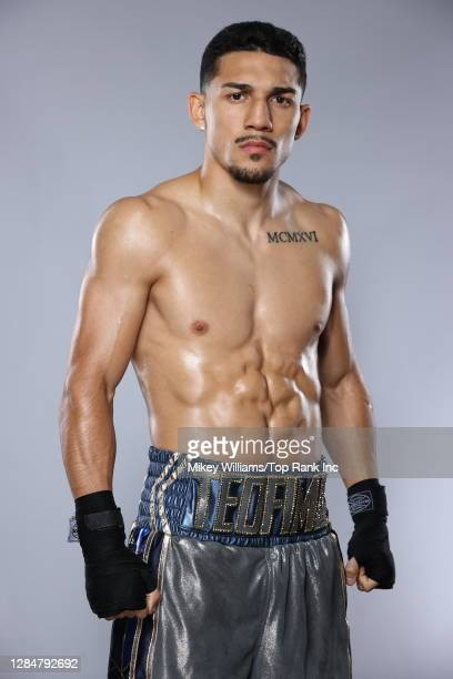 American professional boxer Teófimo López poses for a portrait on October 16, 2020 in Las Vegas, Nevada.