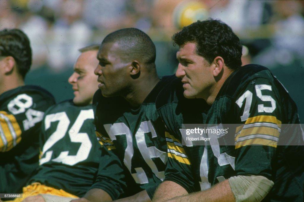 Moore, Adderley & Gregg Of The Packers : Nachrichtenfoto