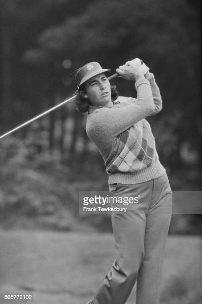 American professional golfer and gold course designer Amy Alcott in action during Colgate European Open Sunningdale GC UK 4th August 1978