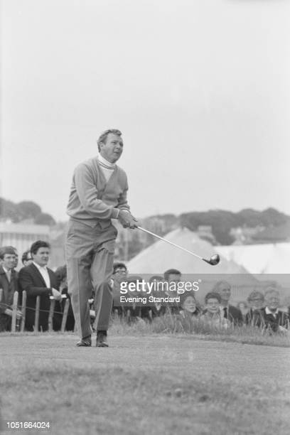 American professional golfer Arnold Palmer at the Open Championship, Angus, Scotland, UK, 12th July 1968.