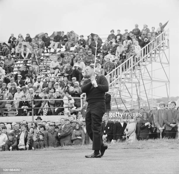 American professional golfer Billy Casper in action at the Open Championship Angus Scotland UK 12th July 1968