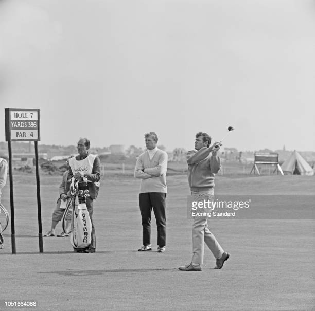 American professional golfer Doug Sanders in action at the Open Championship Angus Scotland UK 12th July 1968
