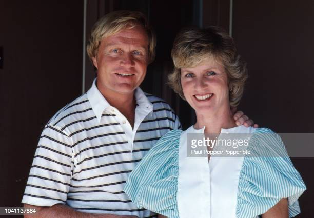 American professional golfer Jack Nicklaus posed with his wife Barbara during a photocall in Florida United States in February 1983