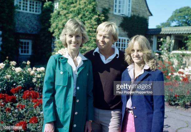 American professional golfer Jack Nicklaus with his wife Barbara and daughter Nancy circa 1980