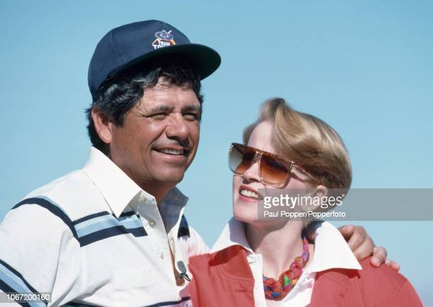 American professional golfer Lee Trevino with his wife Claudia circa December 1987