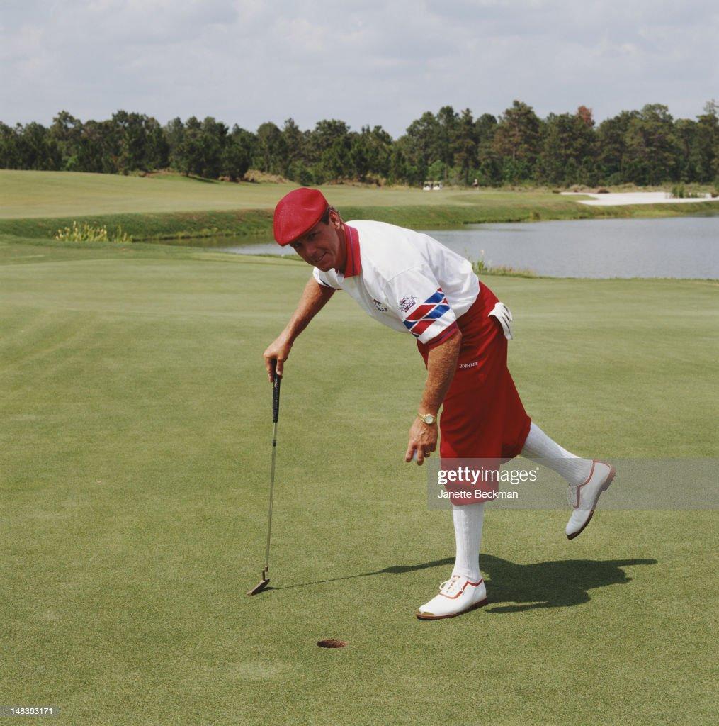 American professional golfer Payne Stewart (1957 - 1999) in Florida, 1995.