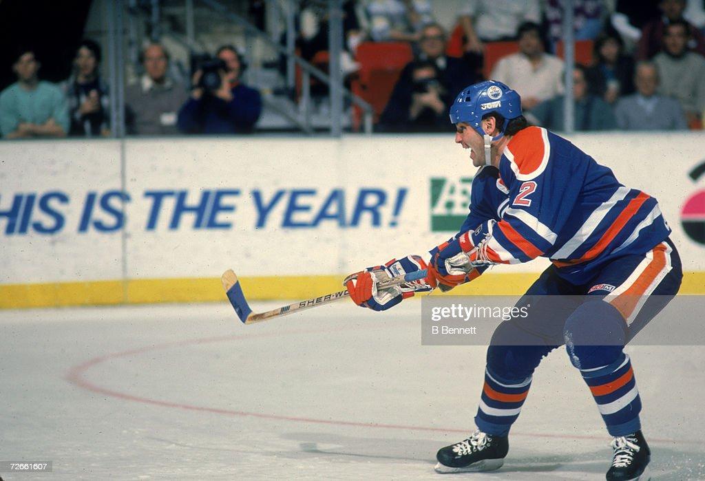 Lee Fogolin Of The Edmonton Oilers : News Photo