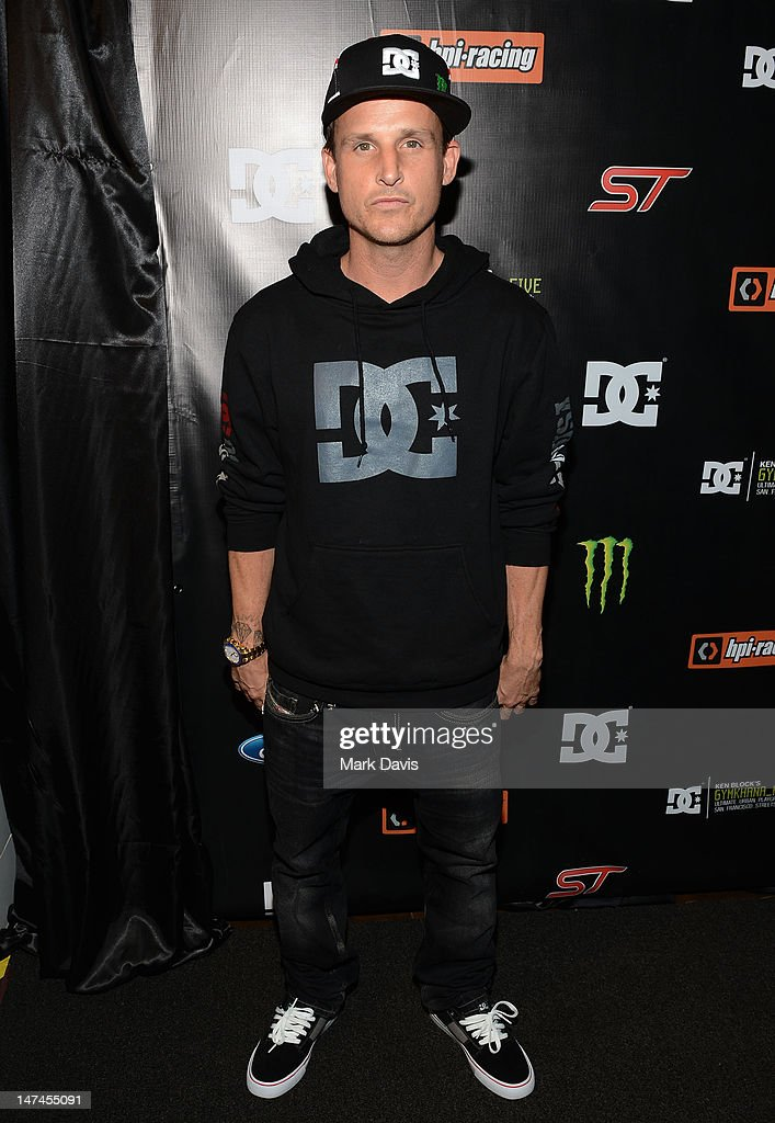 American professional skateboarder Rob Dyrdek attends the premiere Of The Gymkhana FIVE held at the JW Marriot Mixing room at L.A. Live on June 29, 2012 in Los Angeles, California.