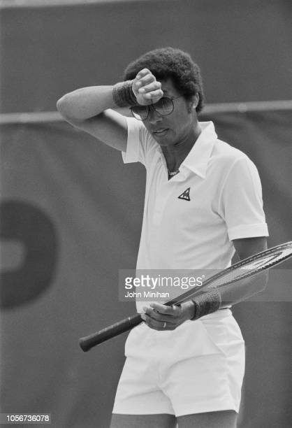 American professional tennis player Arthur Ashe at the French Tennis Open, Paris, France, 5th June 1979.