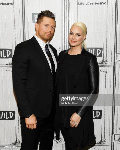 American professional wrestler Michael The Miz Mizanin and Maryse Ouellet vistis Build Studio on July 19 2018 in New York City