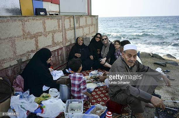 American professor invited to join Saudi Arabian family for lunch on the Corniche in Jeddah, Saudi Arabia. The Red Sea coastline is a familiar place...