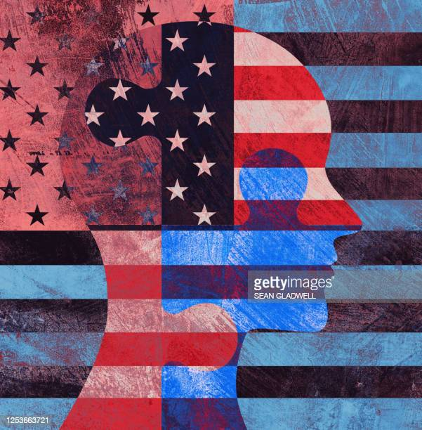 american profile illustration - patriotism stock pictures, royalty-free photos & images