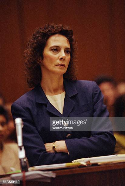 American prosecutor Marcia Clark during the trial of former football player and actor OJ Simpson Simpson is accused of murdering his wife Nicole...