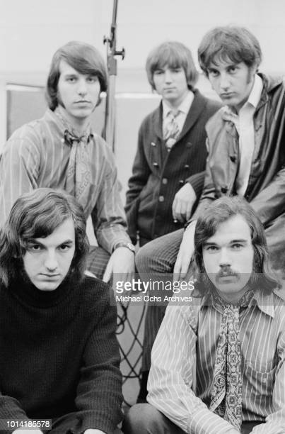American psychedelic rock band Beacon Street Union circa 1966 Clockwise from bottom right they are singer John Lincoln Wright bassist Wayne Ulaky...