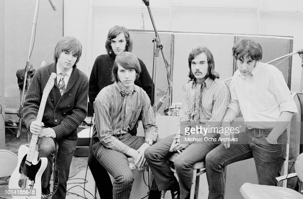 American psychedelic rock band Beacon Street Union circa 1966 From left to right they are guitarist Paul Tartachny bassist Wayne Ulaky drummer...