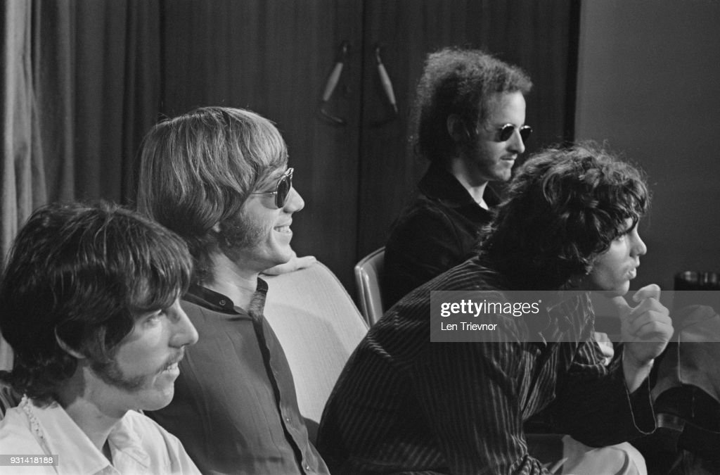 American psychedelic rock band The Doors during a press conference at Heathrow Airport London (  sc 1 st  Getty Images & The Doors arrive in the UK Pictures | Getty Images