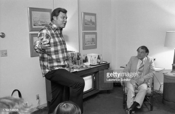 American psychiatrist and research scientist Dr Louis Jolyon West makes a point during a discussion with attorney F Lee Bailey and others in Bailey's...