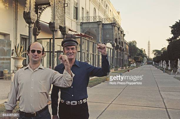 American psychologist and author Timothy Leary pictured right with his associate Martin Kenner in Cairo Egypt in October 1970 after Leary had escaped...