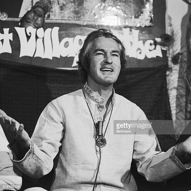 Dr Timothy Leary announces at a press conference that his group will join forces with the Black Power Organization