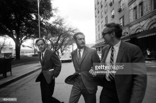 American psychologists doctors Ralph Metzner and Timothy Leary along with author and spiritual advisor Richard Alpert talk as they walk across a...
