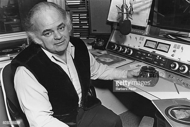 American public radio broadcaster and host of 'Morning Pro Musica' on the WGBH station Robert J Lurtsema Boston Massachusetts USA 16th February 1978