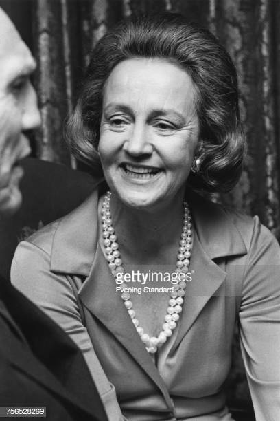 American publisher Katharine Graham chairwoman of the board of the Washington Post newspaper 25th March 1974 With her is British media executive...