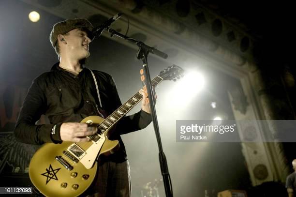 American punk band Alkaline Trio perform at Metro Chicago Illinois April 20 2009 Pictured is guitarist Matt Skiba