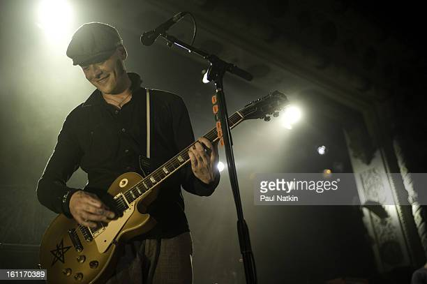 American punk band Alkaline Trio perform at Metro Chicago Illinois April 20 2009 Pictured is guitarist Matt Skiba