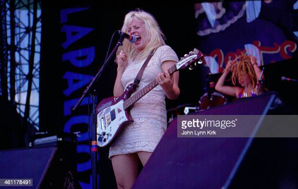 American punk band Babes in Toyland with lead singer Kat Bjelland on stage at Lollapalooza Festival California 1993