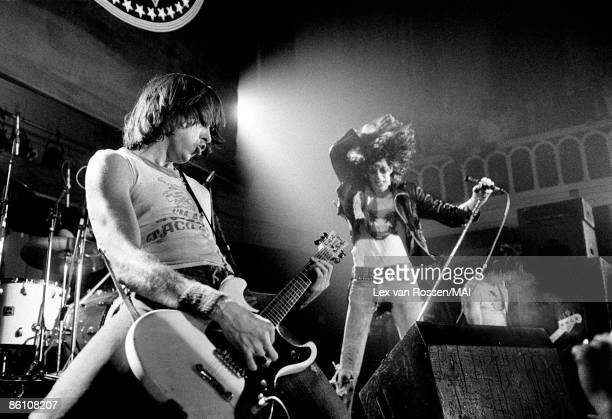 NETHERLANDS circa 1977 American punk group The Ramones perform live on stage in The Netherlands circa 1977 LR Johnny Ramone Joey Ramone Dee Dee Ramone