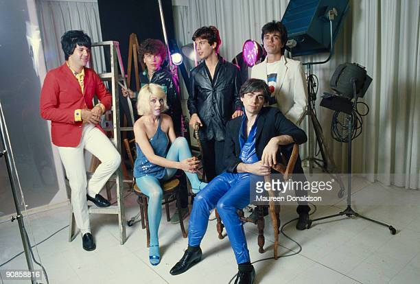 American punk rock band Blondie 1979 From left to right drummer Clem Burke bass player Nigel Harrison keyboard player Jimmy Destri and guitarist...