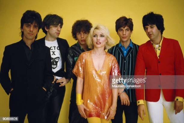 American punk rock band Blondie 1979 From left to right guitarist Frank Infante guitarist Chris Stein bass player Nigel Harrison singer Debbie Harry...