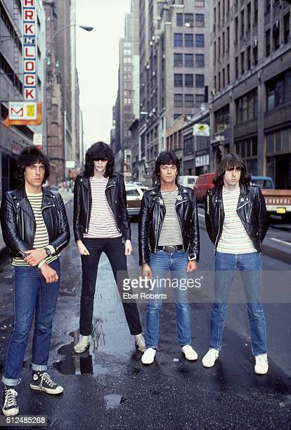 American punk rock band The Ramones in New York City June 10 1981 Left to right Marky Ramone Joey Ramone Dee Dee Ramone and Johnny Ramone