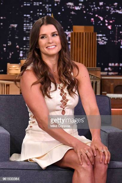 American Racing Driver Danica Patrick visits 'The Tonight Show Starring Jimmy Fallon' at Rockefeller Center on May 22 2018 in New York City