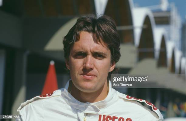 American racing driver Eddie Cheever driver of the USFG Arrows Megatron Arrows A10B Megatron Straight4t pictured prior to competing to finish in 8th...