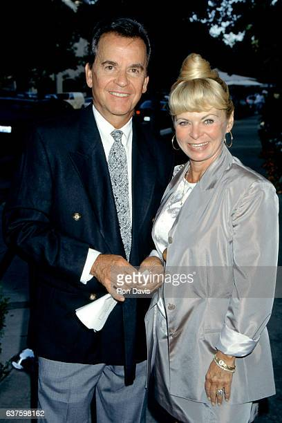 American radio and television personality Dick Clark and his wife Kari Clark attend the nominees luncheon for the 48th Annual Primetime Emmy Awards...