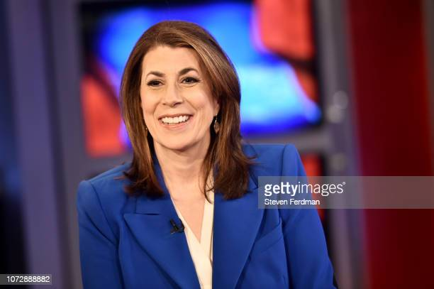 American radio host author and political commentator Tammy Bruce Visits Lou Dobbs Tonight at Fox Business Network Studios on December 13 2018 in New...
