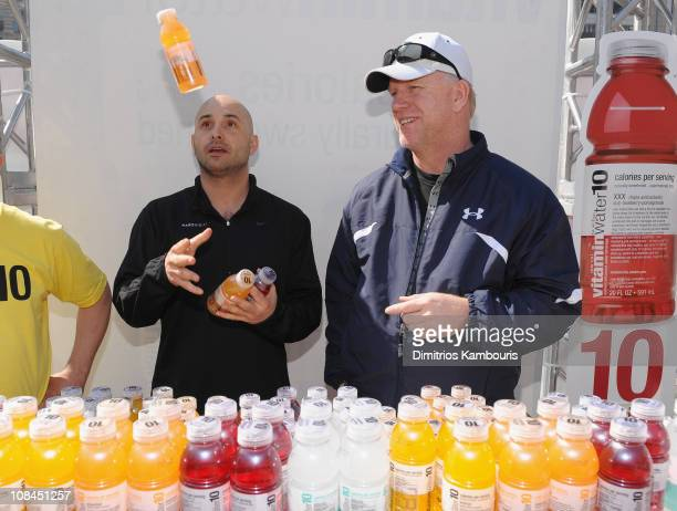 American radio personality Craig Carton and former American football quarterback Boomer Esiason attend the low calorie Vitaminwater10 launch at...