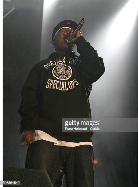 American rap artist 50 Cent performs at the Carling Weekend Leeds festival