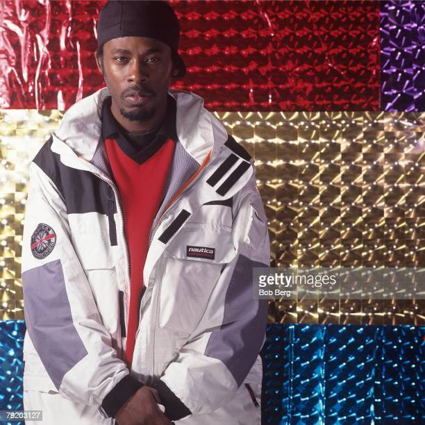 American rap artist GZA of the rap group WuTang Clan poses for a April 1997 portrait in New York City New York